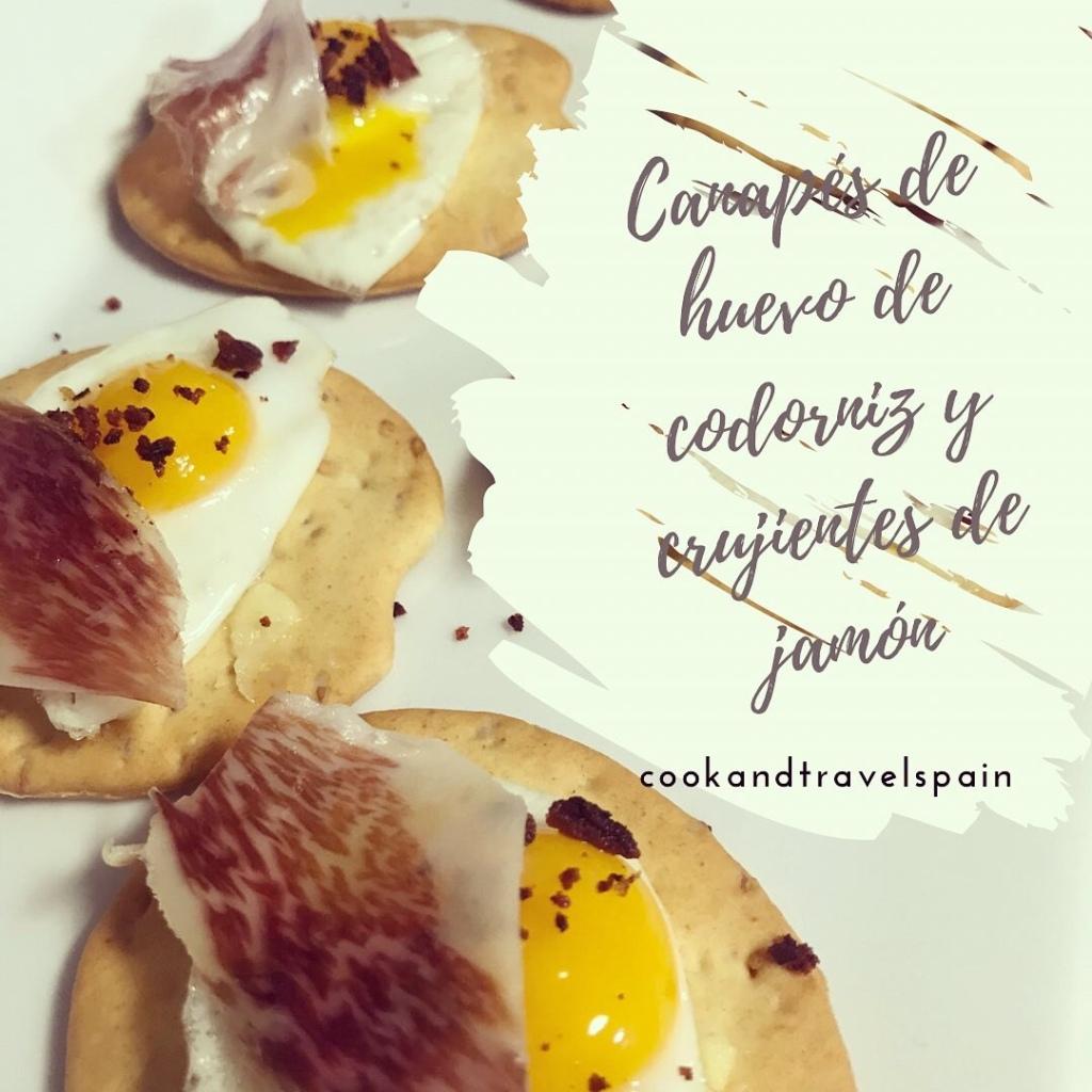 Canapé de huevo de codorniz  - cookandtravelspain